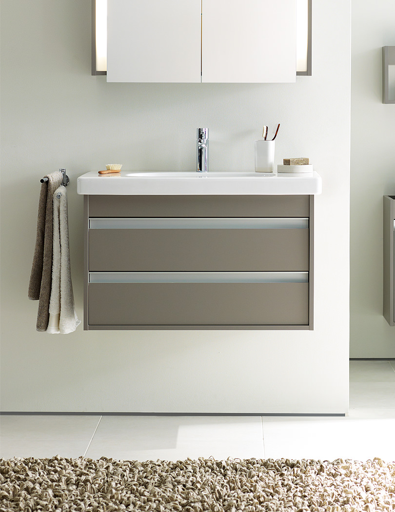 Duravit Ketho 650mm Vanity Unit With 2 Drawer And 700mm Basin