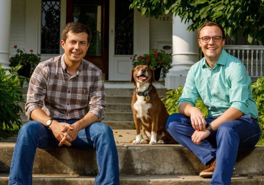 Image result for images mayor pete dogs