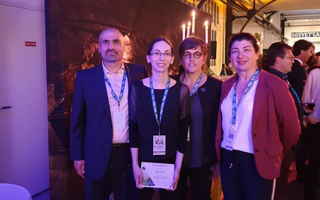 Prix de la recherche de l'ASTEE 2019 décerné à Elodie SUARD