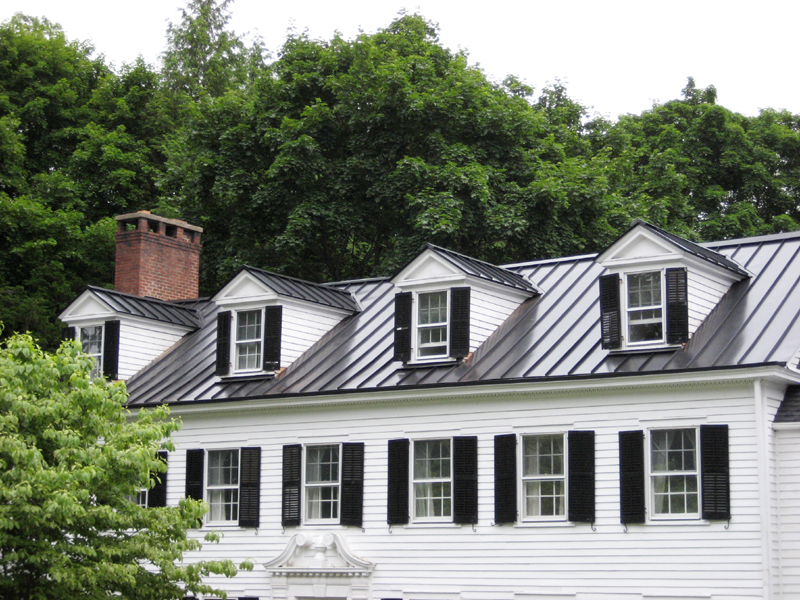 Standing Seam Metal Roof Black - After