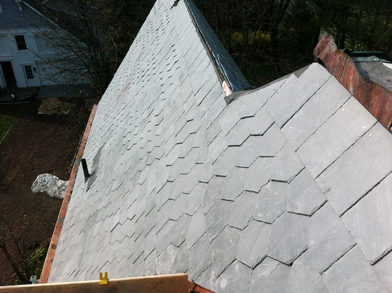 Natural Slate Roofing Installation