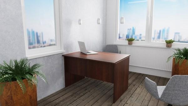 wąskie biurko proste