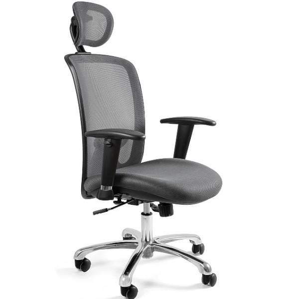 szary fotel biurowy