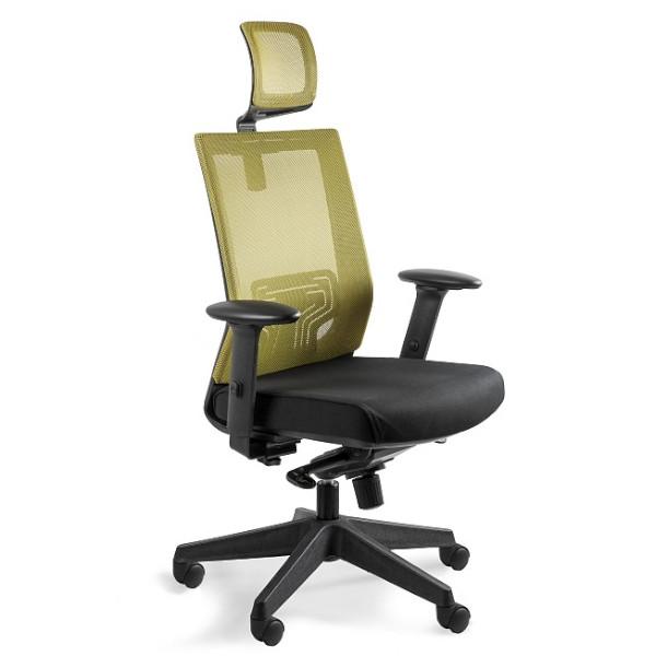 oliwkowy fotel biurowy