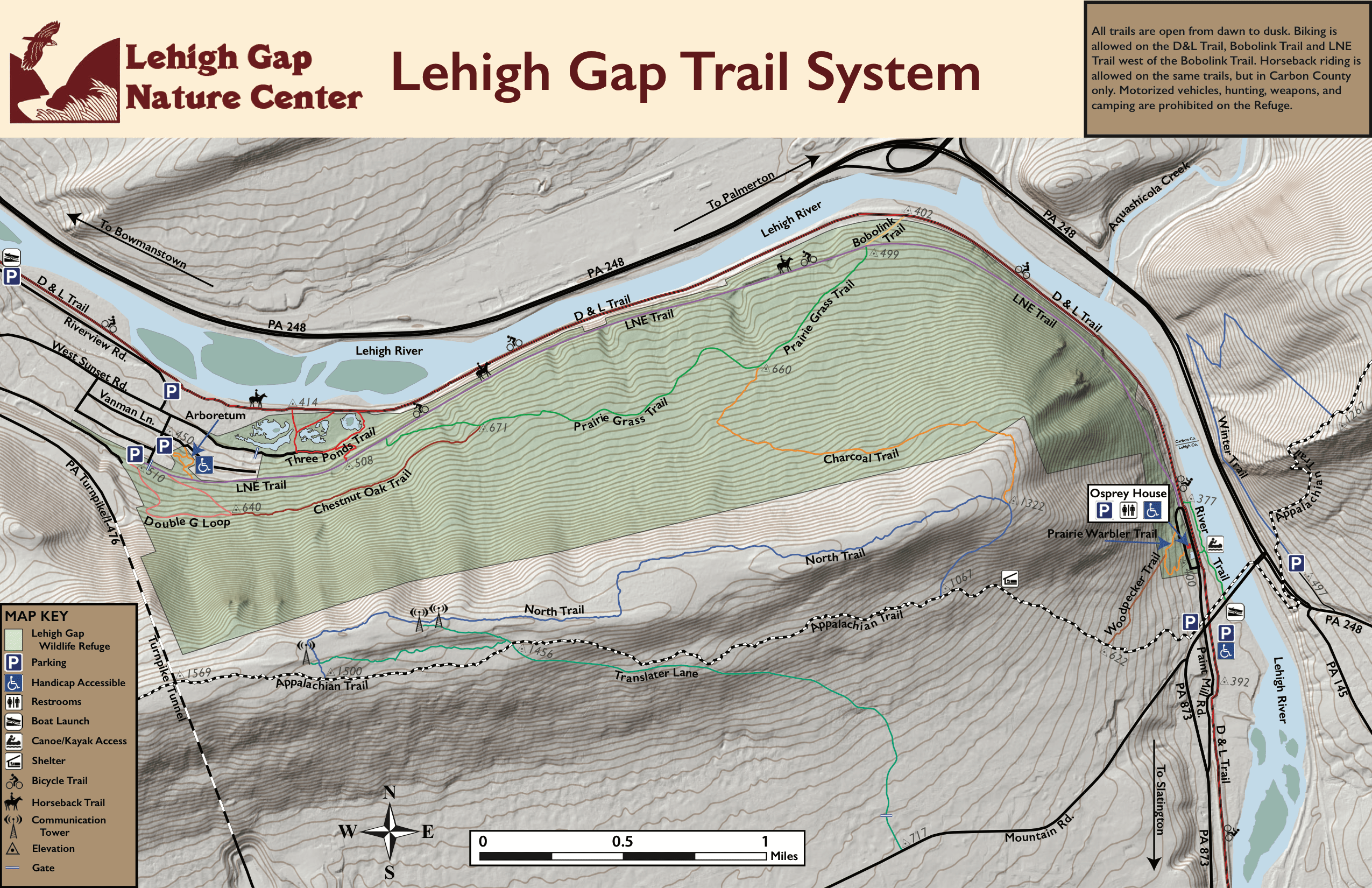 Appalachian Trail New England Map.Trail Map And Guides Lehigh Gap Nature Center