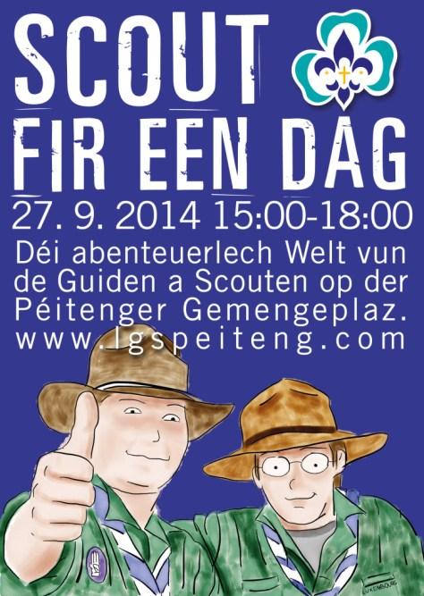 Flyer: Scout fir een Dag 2014
