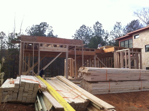 Construction Update Contemporary Proud Green Home At