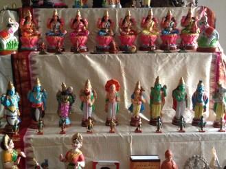 Golu 2013 - Step 4 & 5 - Ashta Lakshmi and Dashavataram - 8 forms of Goddess Lakshmi and 10 Reincarnations of Lord Vishnu