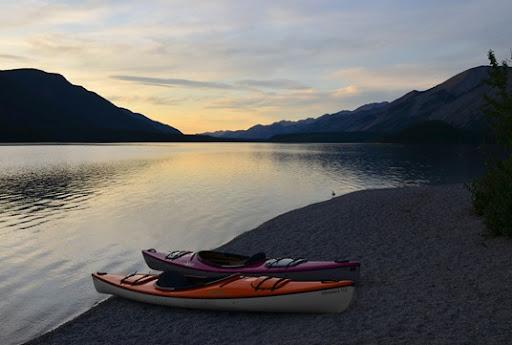 sunset on Muncho Lake