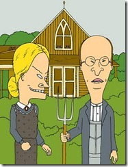 American Gothic - Beavis and Butthead