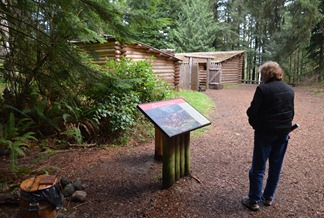 exploring Fort Clatsop and the fort replica