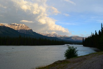 dawn on the Athabasca River