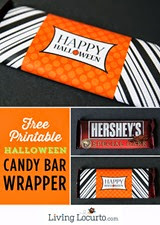 Living Locurto Orange-Black-Halloween-Candy-Bar-Wrappers
