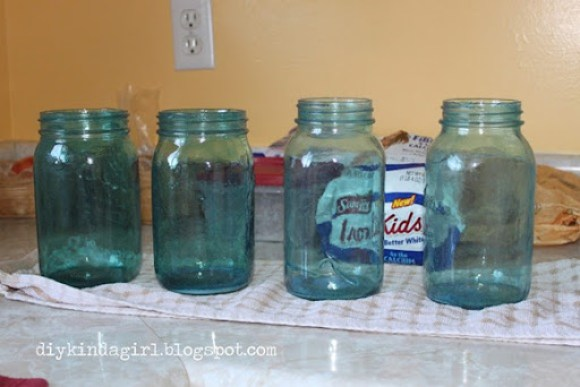 pretty tinted mason jars