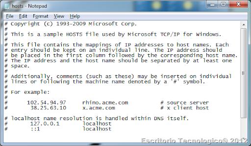 como modificar hosts windows