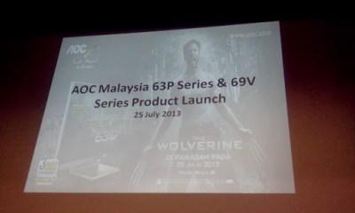Pelancaran Produk AOC Malaysia dan premier screening Wolverine - slide 1