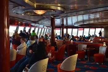 Norwegian Jewel Sailaway from the Port of New Orleans inside the Spinnaker Lounge
