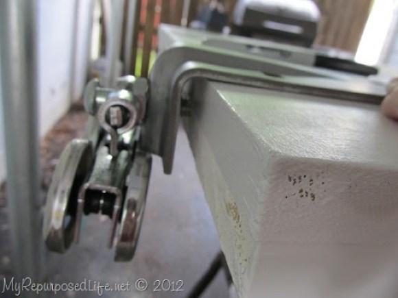 Installing door Hardware (barn door) (8)
