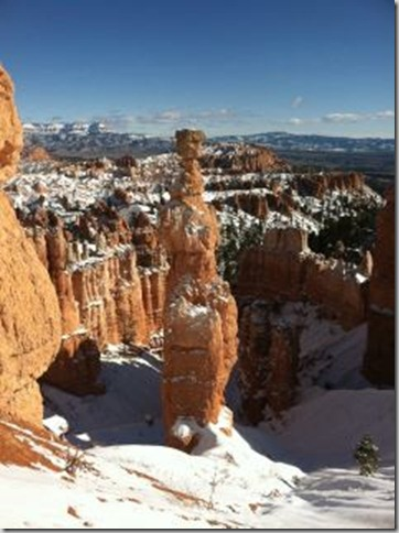 Snow & Thor's Hammer Bryce Canyon NP UT by Mike