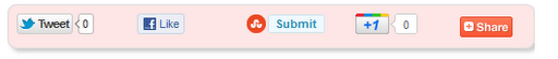 social sharing buttons widget