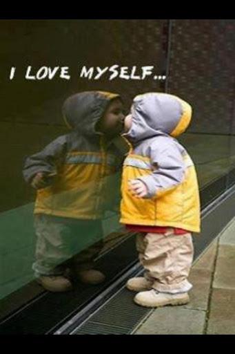 ↑上圖,每天生活,能不能像上圖的小孩一樣愛自己呢?