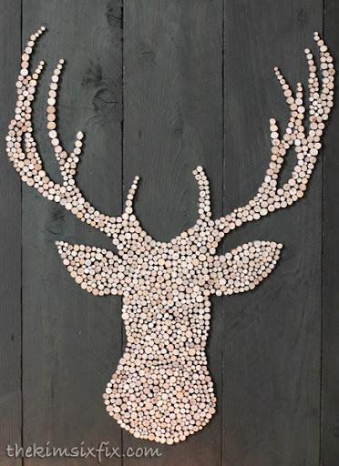 Wooden Circle Deer Headjpg