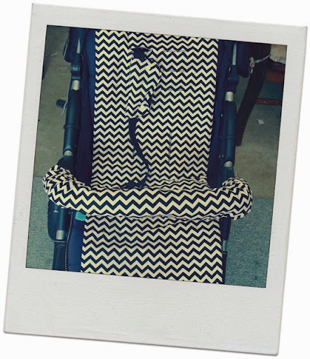 black and white chevron pram liner seatbelt covers bumper bar cover