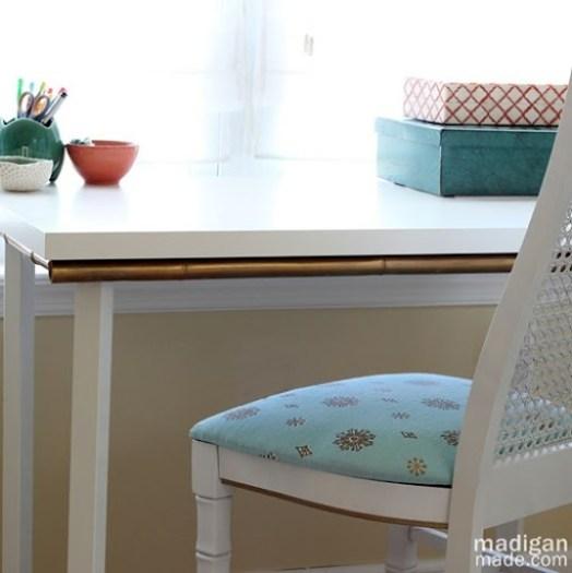 Simple IKEA white desk update - madiganmade.com