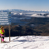 New Zealand has a ski resort, Treble Cone Wanaka, that is voted to have one of the best views in the world.