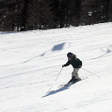 Mickey on one of our favorite pistes in Serre Chevalier, France - and nearly no people :-)