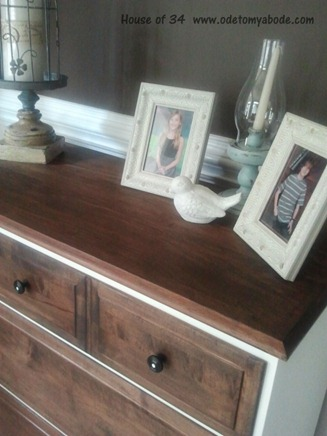 two-toned dresser