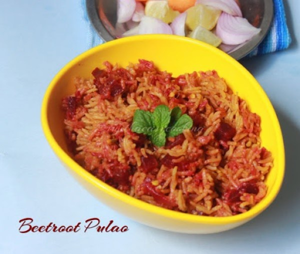 Beetroot Pulao3