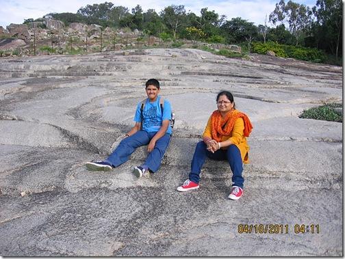 VidyaSury on the rocks