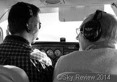 don with carl in plane