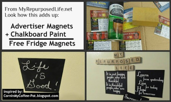 repurposed advertising magnets