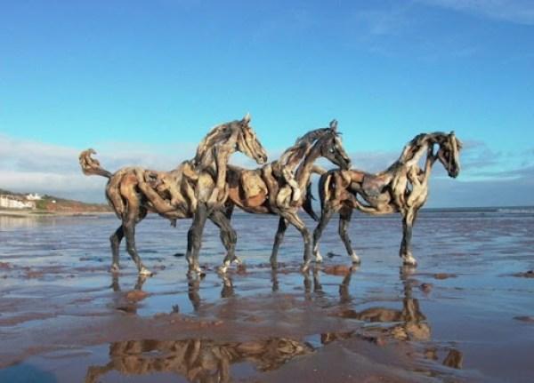 DRIFTWOOD-HORSES-THREE-AT-PLAY