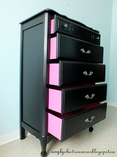 pretty black chest of drawers