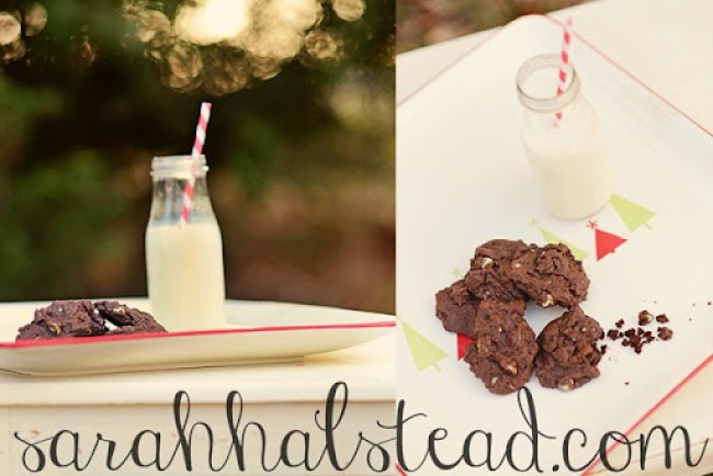 Mint Chocolate Chip Cookies by In the Moment