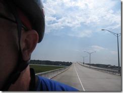 Zeke descending the Cross Island Parkway bridge