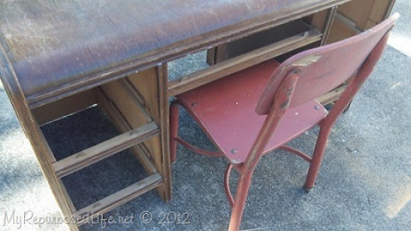 vintage desk for kids