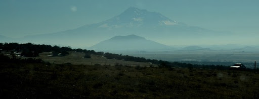 Even Mt Shasta is shrouded by the murky air
