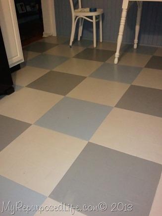 painted vinyl flooring