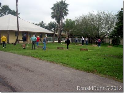Friday afternoon horseshoes, Bentsen Palm Village RV Resort, Mission, TX