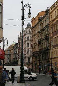 walking back toward Old town Square