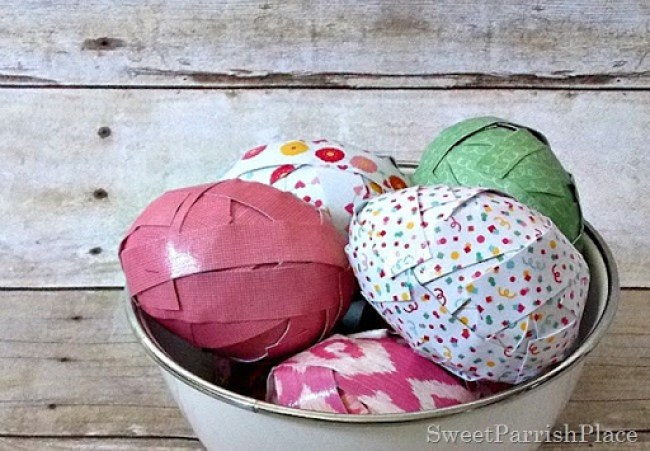 Craft Paper Easter Eggs2
