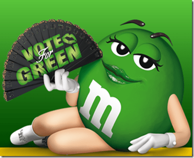 M&M's Global Character Elections --- Vote Miss Green