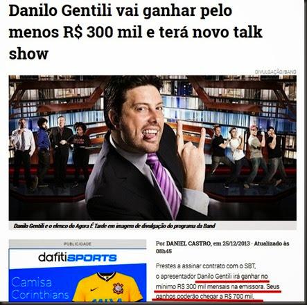 Danilo gentili salário