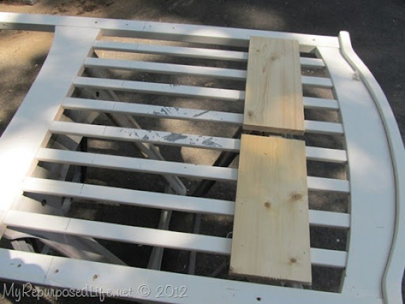cutting a crib to make a bench