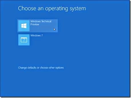 memilih OS windows yang akan di install