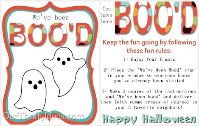 Our Thrifty Ideas: You've Been Boo'd printable